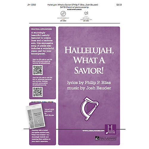 Jubal House Publications Hallelujah, What a Savior! SATB composed by Josh Bauder-thumbnail