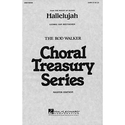 Hal Leonard Hallelujah (from The Mount of Olives) SATB arranged by Rod Walker-thumbnail