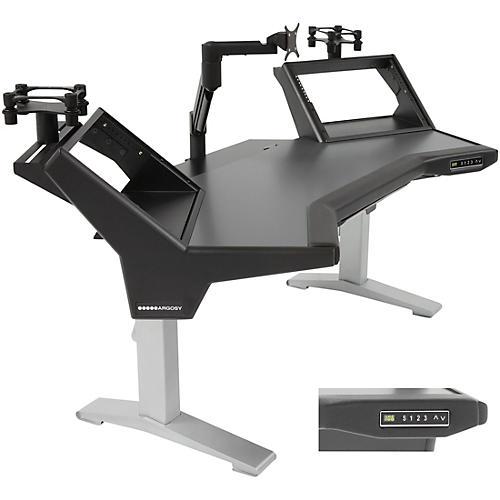 Argosy Halo Height Adj. Ultimate-Halo,2 Shelves,Pr. Speaker Platforms,Accessory Drawer,Monitor Arm (13.5-44lbs) w/rail-thumbnail
