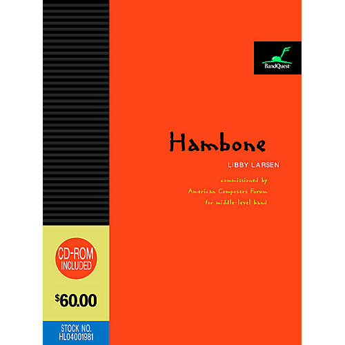 American Composers Forum Hambone (BandQuest Series Grade 3) Concert Band Level 3 Composed by Libby Larsen-thumbnail