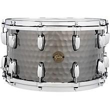 Gretsch Drums Hammered Black Steel Snare 14 x 8 in.