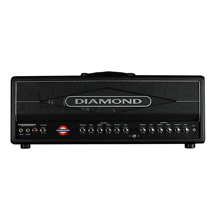 Diamond Amplification Hammersmith USA Custom Series 100W Vintage / Modern Tube Guitar Amp Head Black