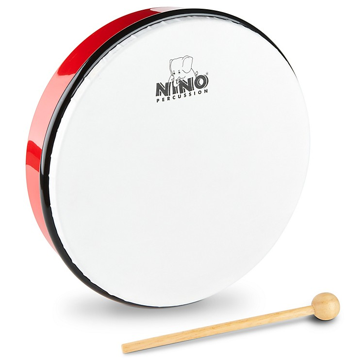 Nino Hand Drum with Beater Red 10 Inches