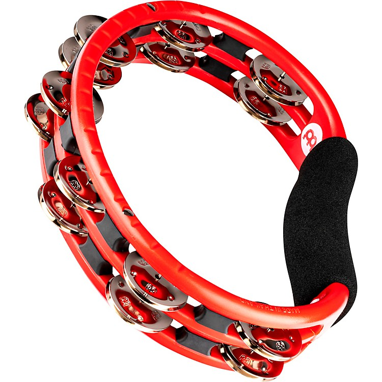 Meinl Handheld Tambourine with Steel Jingles Red