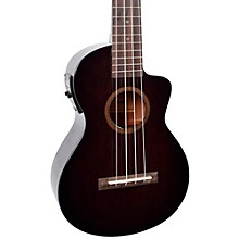 Mahalo Hano Elite Series MH2CE Acoustic-Electric Concert Ukulele Transparent Black