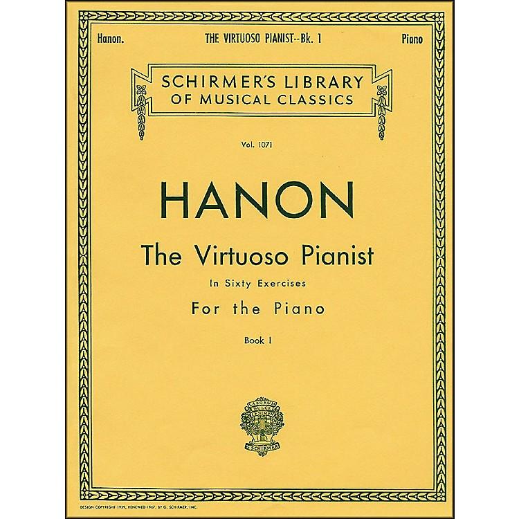 G. SchirmerHanon Virtuoso Pianist Book 1 60 Exercises Nos 1-20 By Hanon