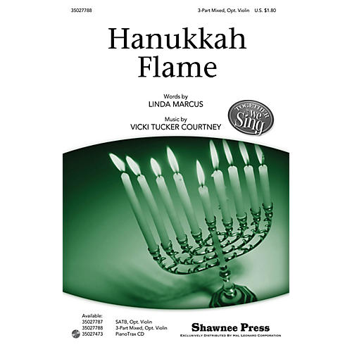 Shawnee Press Hanukkah Flame (Together We Sing Series) 3-PART MIXED composed by Vicki Tucker Courtney