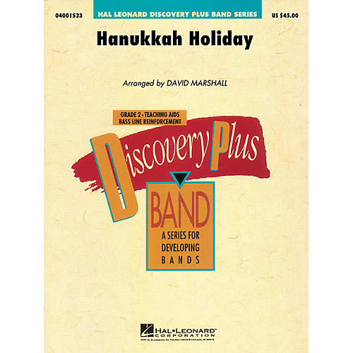 Hal Leonard Hanukkah Holiday - Discovery Plus Concert Band Series Level 2 arranged by David Marshall-thumbnail