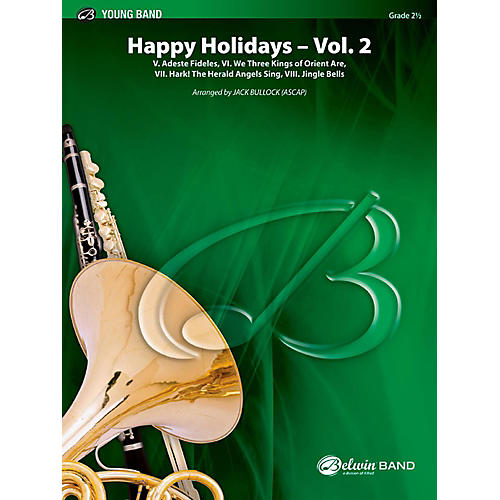 BELWIN Happy Holidays---Vol. 2 Concert Band Grade 2.5 (Easy to Medium Easy)-thumbnail