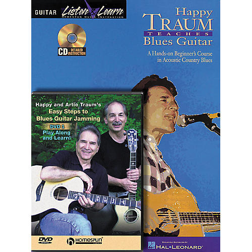 Homespun Happy Traum Teaches Blues Guitar pack