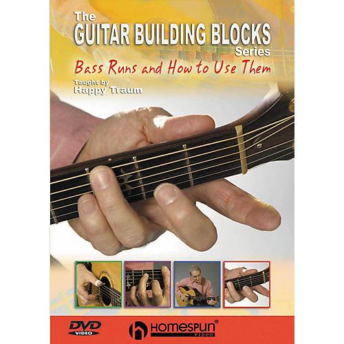 Homespun Happy Traum's Guitar Building Blocks: Bass Runs 2 (DVD)