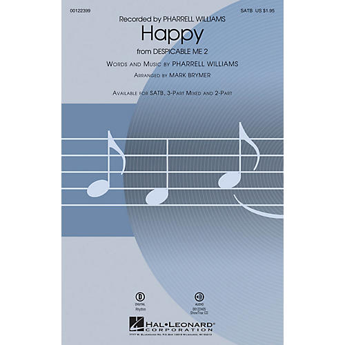 Hal Leonard Happy (from Despicable Me 2) 3-Part Mixed by Pharrell Williams Arranged by Mark Brymer-thumbnail