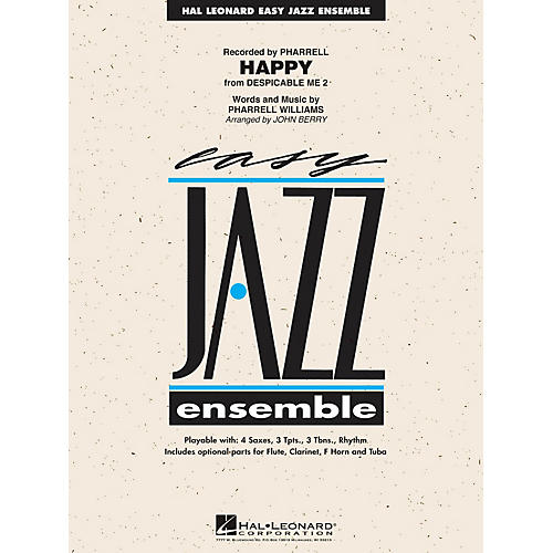 Hal Leonard Happy (from Despicable Me 2) Jazz Band Level 2 by Pharrell Arranged by John Berry