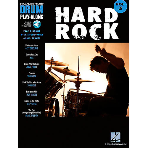 Hal Leonard Hard Rock Drum Play-Along Series Songbook with CD-thumbnail