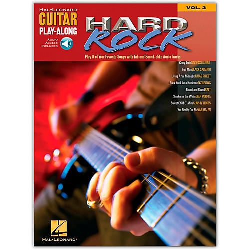 Hal Leonard Hard Rock Guitar Play-Along Series Volume 3 (Book /Online Audio)-thumbnail