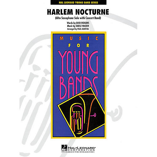 Hal Leonard Harlem Nocturne (Alto Sax Solo with Band) - Young Concert Band Series Level 3 arranged by Paul Murtha-thumbnail