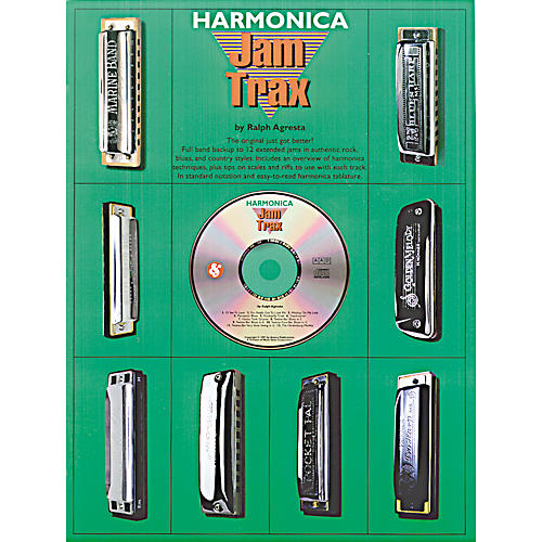 Music Sales Harmonica Jam Trax (Book/CD)