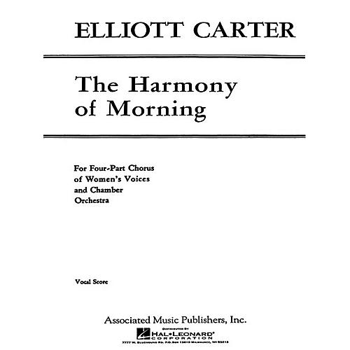 G. Schirmer Harmony Of Morning - SSAA/Pnovocal Score SSAA composed by E Carter-thumbnail
