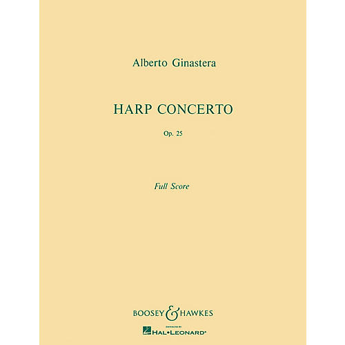 Boosey and Hawkes Harp Concerto, Op. 25 Boosey & Hawkes Scores/Books Series Composed by Alberto E. Ginastera-thumbnail