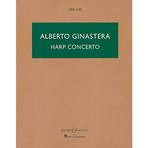 Boosey and Hawkes Harp Concerto, Op. 25 Boosey & Hawkes Scores/Books Series Softcover Composed by Alberto E. Ginastera-thumbnail