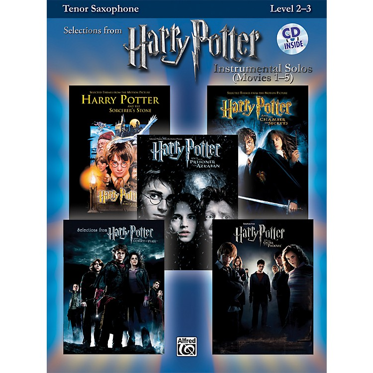 Alfred Harry Potter Instrumental Solos - Movies 1-5 Tenor Sax