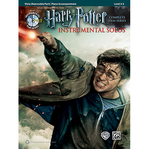 Alfred Harry Potter Instrumental Solos for Strings - Viola (Book/CD)
