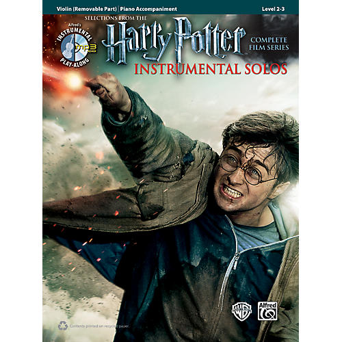 Alfred Harry Potter Instrumental Solos for Strings - Violin (Book/CD)-thumbnail