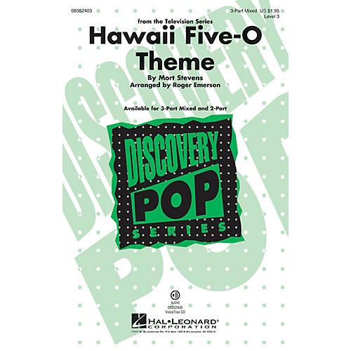 Hal Leonard Hawaii Five-O Theme (Discovery Level 3) 3-Part Mixed arranged by Roger Emerson-thumbnail