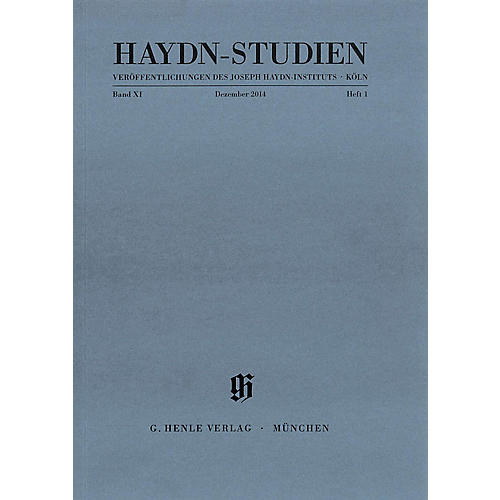 G. Henle Verlag Haydn Studien Series - Series II, Volume 1, December 2014 Henle Periodicals Softcover by Josef Haydn-thumbnail