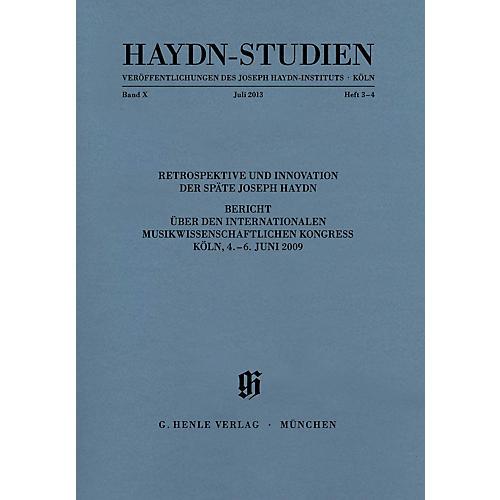 G. Henle Verlag Haydn-Studien: Veröffentlichungen des Joseph Haydn-Instituts - Köln: Band X, Heft 3-4, Juli 2013 Henle Ed-thumbnail