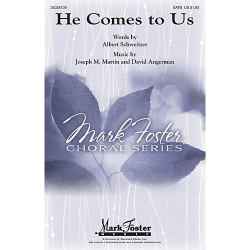 Shawnee Press He Comes to Us SSATBB composed by Joseph M. Martin-thumbnail