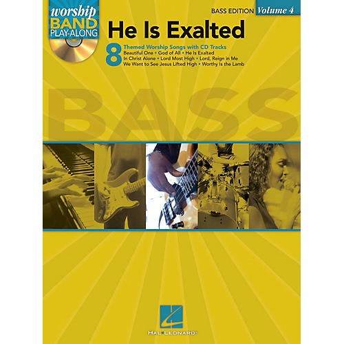 Hal Leonard He Is Exalted - Bass Edition Worship Band Play-Along Series Softcover with CD Composed by Various-thumbnail