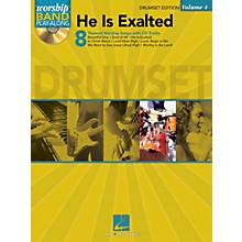 Hal Leonard He Is Exalted - Drum Edition Worship Band Play-Along Series Softcover with CD Composed by Various