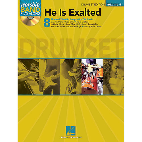 Hal Leonard He Is Exalted - Drum Edition Worship Band Play-Along Series Softcover with CD Composed by Various-thumbnail