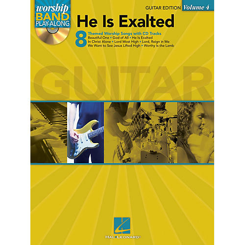 Hal Leonard He Is Exalted - Guitar Edition Worship Band Play-Along Series Softcover with CD Composed by Various