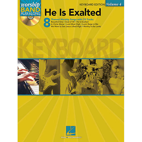 Hal Leonard He Is Exalted - Keyboard Edition Worship Band Play-Along Series Softcover with CD Composed by Various-thumbnail