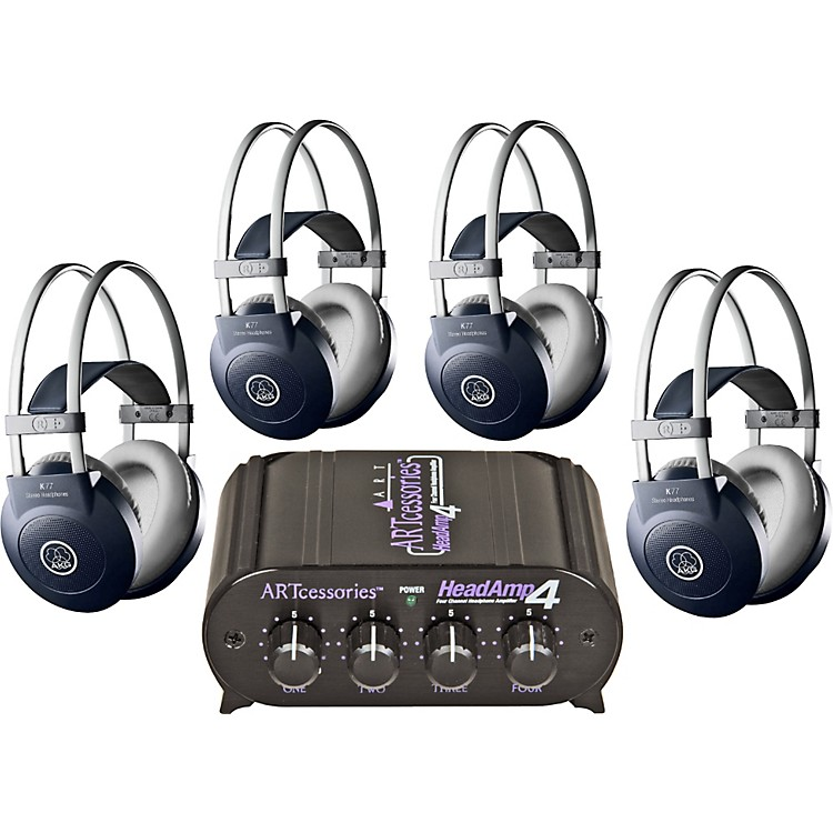 AKG Headamp 4/K77 Headphone Four Pack