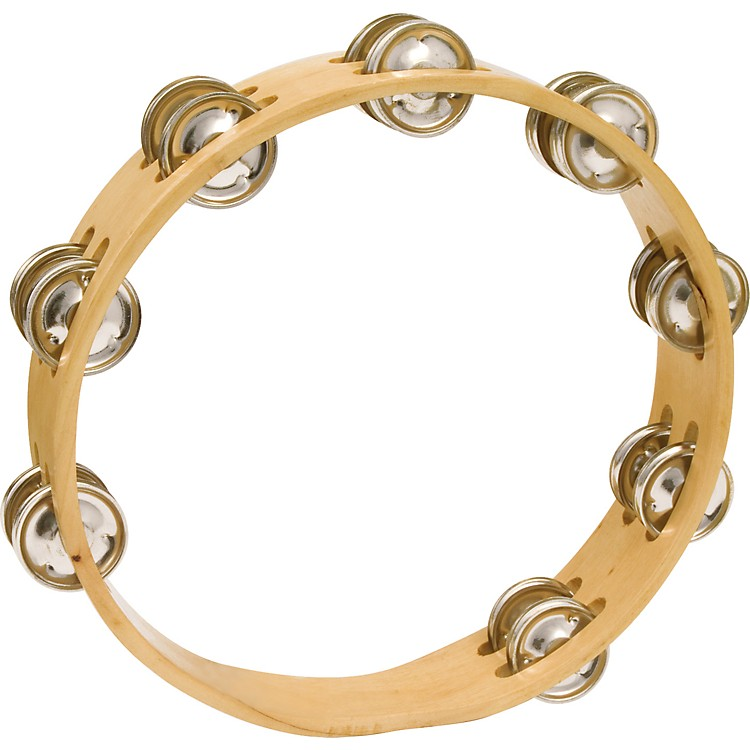 CP Headless Double Row Wood Tambourine 10 In