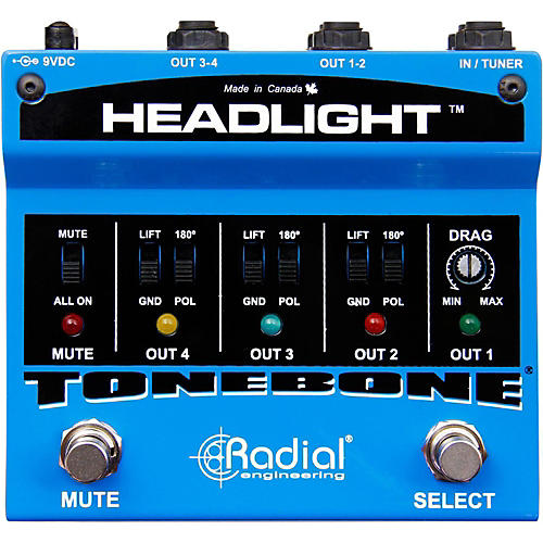 Radial Engineering Headlight Guitar Amp Selector Pedal-thumbnail