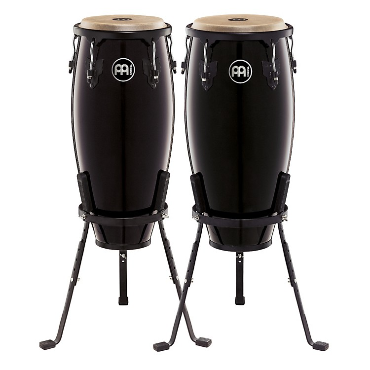 MeinlHeadliner Series 10 and 11 Inch Wood Conga Set with Basket Stands