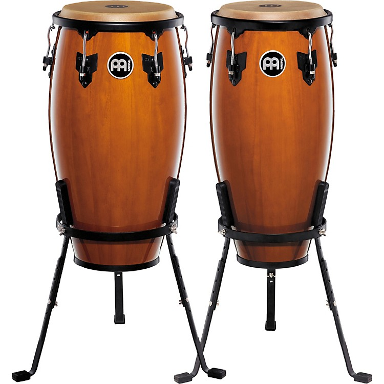 MeinlHeadliner Series 11 and 12 Inch Wood Conga Set with Basket StandsMaple