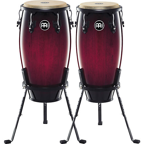 Meinl Headliner Series 11 and 12 Inch Wood Conga Set with Basket Stands-thumbnail