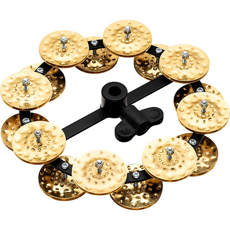 Meinl Headliner Series Hand Hammered Brass Jingles Hi-Hat Tambourine Double Row