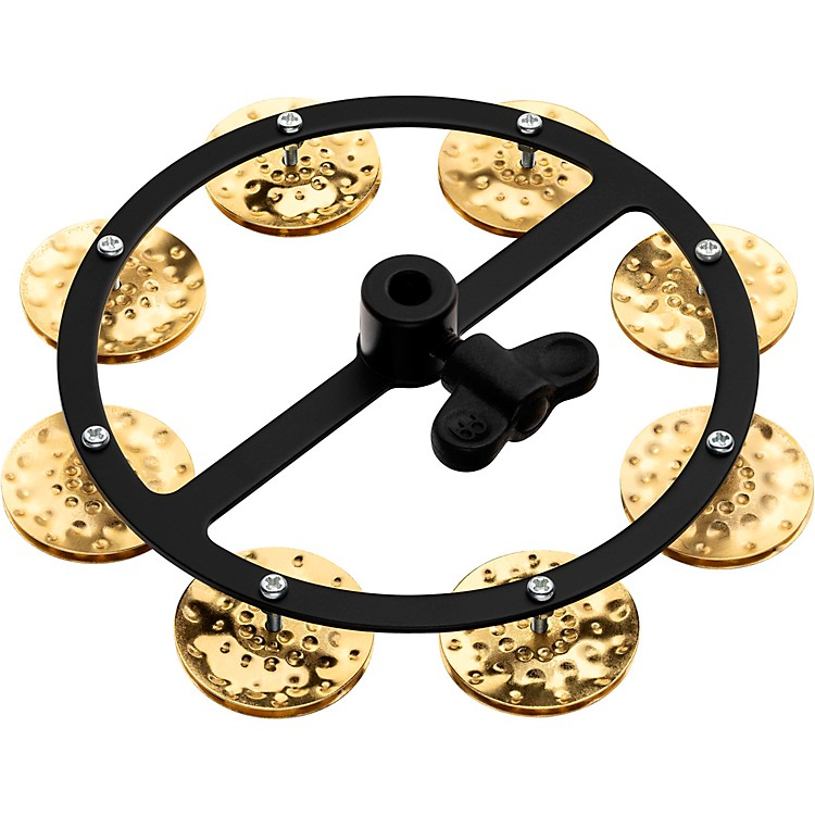 Meinl Headliner Series Hand Hammered Brass Jingles Hi-Hat Tambourine Single Row