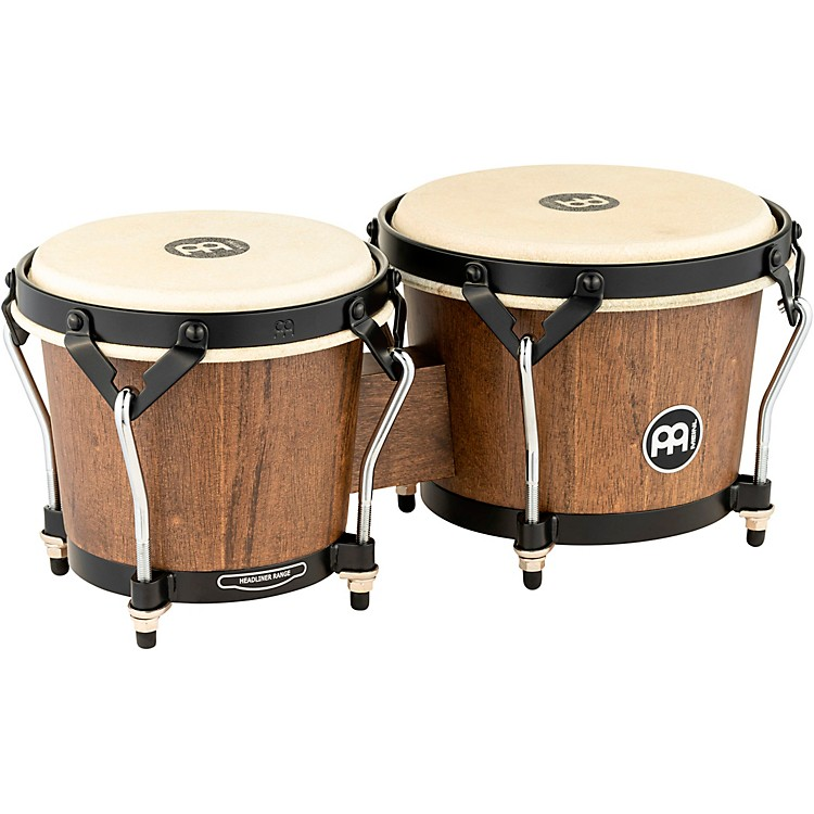 Meinl Headliner Traditional Designer Series Wood Bongos Walnut Brown 6.75 Inch x 8 Inch