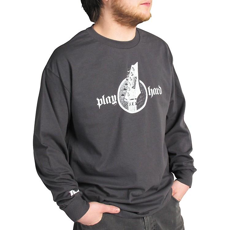 IbanezHeadstock Long Sleeve ShirtGreyExtra Large