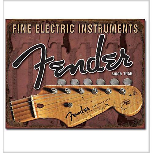 Fender Headstock Tin Sign