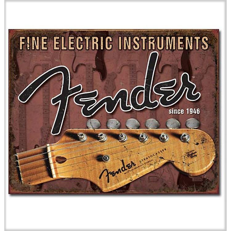 FenderHeadstock Tin Sign