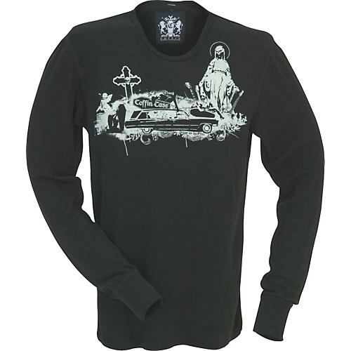 Coffin Case Hearse and Cross Long-Sleeve Thermal Shirt