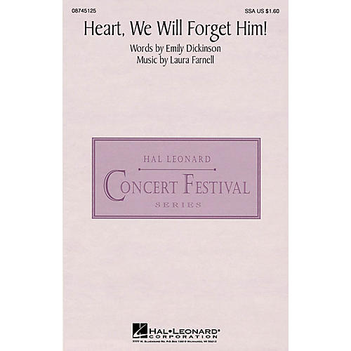 Hal Leonard Heart, We Will Forget Him! SSA composed by Laura Farnell